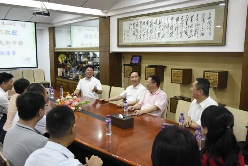九洲中學回訪濠江, 促兩地交流