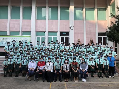 濠江中學澳門童軍第三十三旅升團儀式