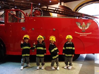 K2參觀消防局